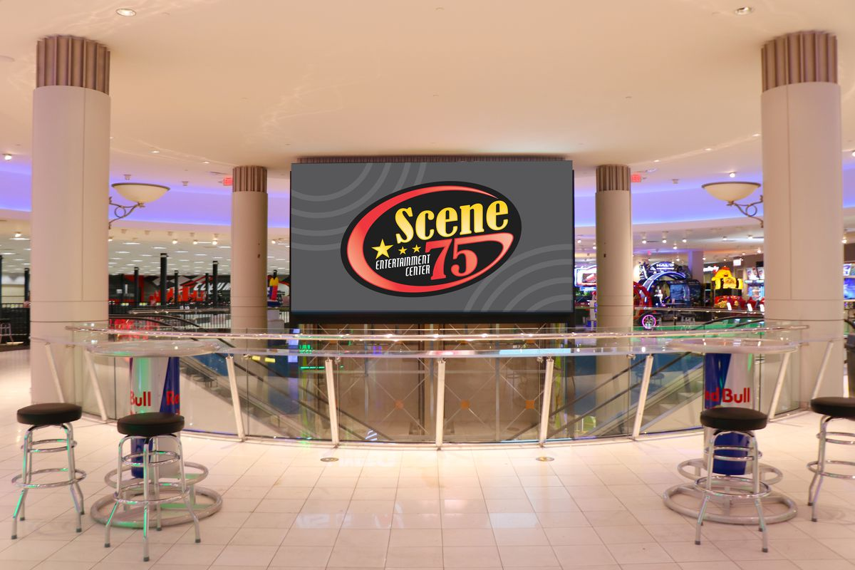 A former mall space converted into an entertainment center.