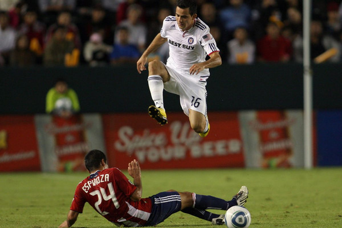 Marco Pappa and the Chicago Fire will look to leap over Chivas USA tonight.
