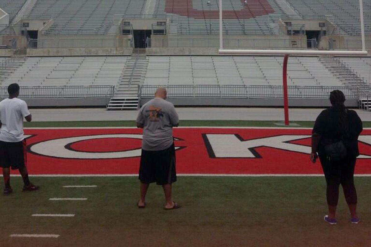 The Holmes family takes in Ohio Stadium.