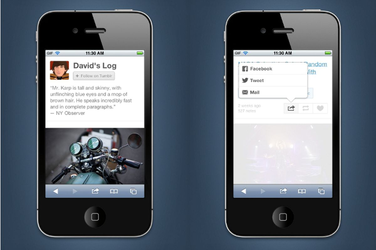 Tumblr mobile update
