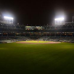11:50 p.m. Turning off the ballpark lights -