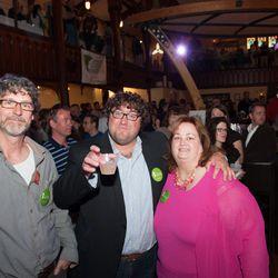 Judges, from left: Rob Evans of Duckfat; Joe Ricchio; Meredith Goad