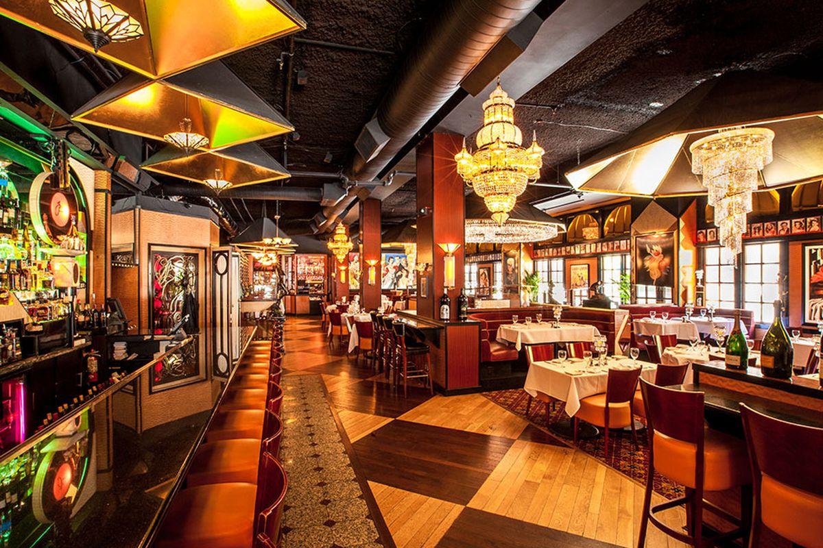 Inside Jeff Ruby's Steakhouse in Cincinnati, Ohio.