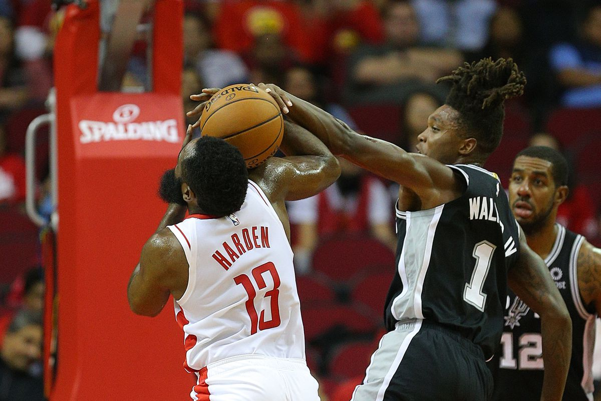 Lonnie Walker had a defensive coming out party against James Harden