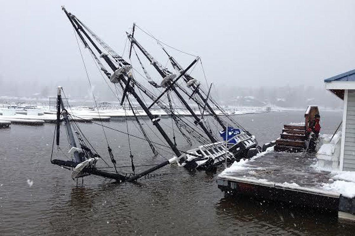 Californias PirateShip Booze Cruise Sank Due To Snow Eater - Pirate ship cruise