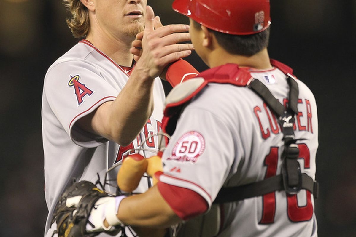 Jered Weaver went 2-0 and allowed 2 ER in 24 IP on the 12-game Angels road trip.