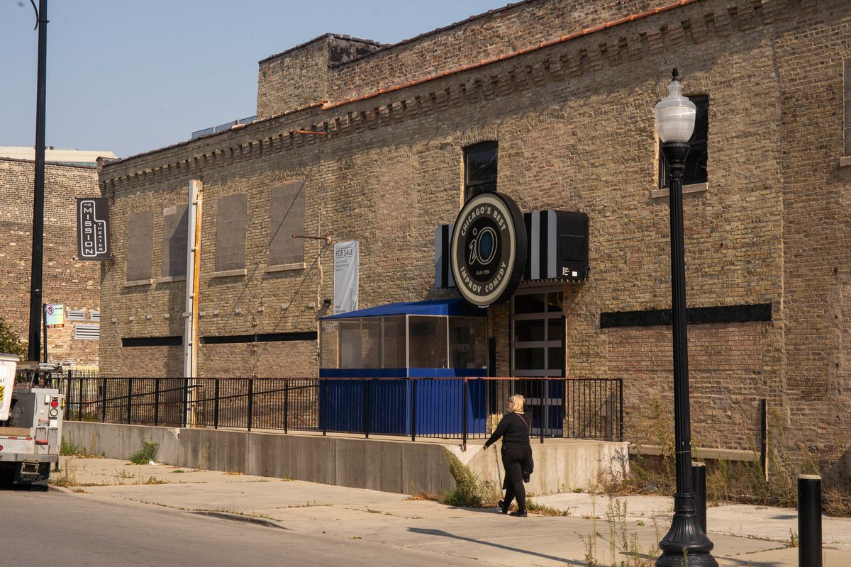 The iO Theater at 1501 N. Kingsbury St. in the Goose Island neighborhood, which has been closed since March, is listed for $12,900,000.