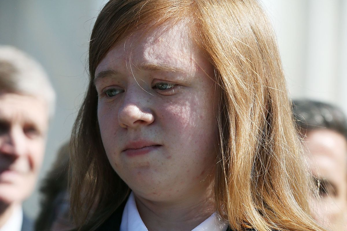 Abigail Fisher at the Supreme Court in 2012.