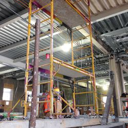 Construction on the middle floor in the Provo City Center Temple.