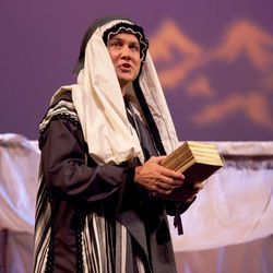 """Dave Petersen as Lehi in the 2011 production of """"Nephi and the Sword of Laban."""" This summer, """"Nephi and the Sword of Laban"""" will run in Salt Lake City as an alternative to """"The Book of Mormon"""" Broadway musical."""