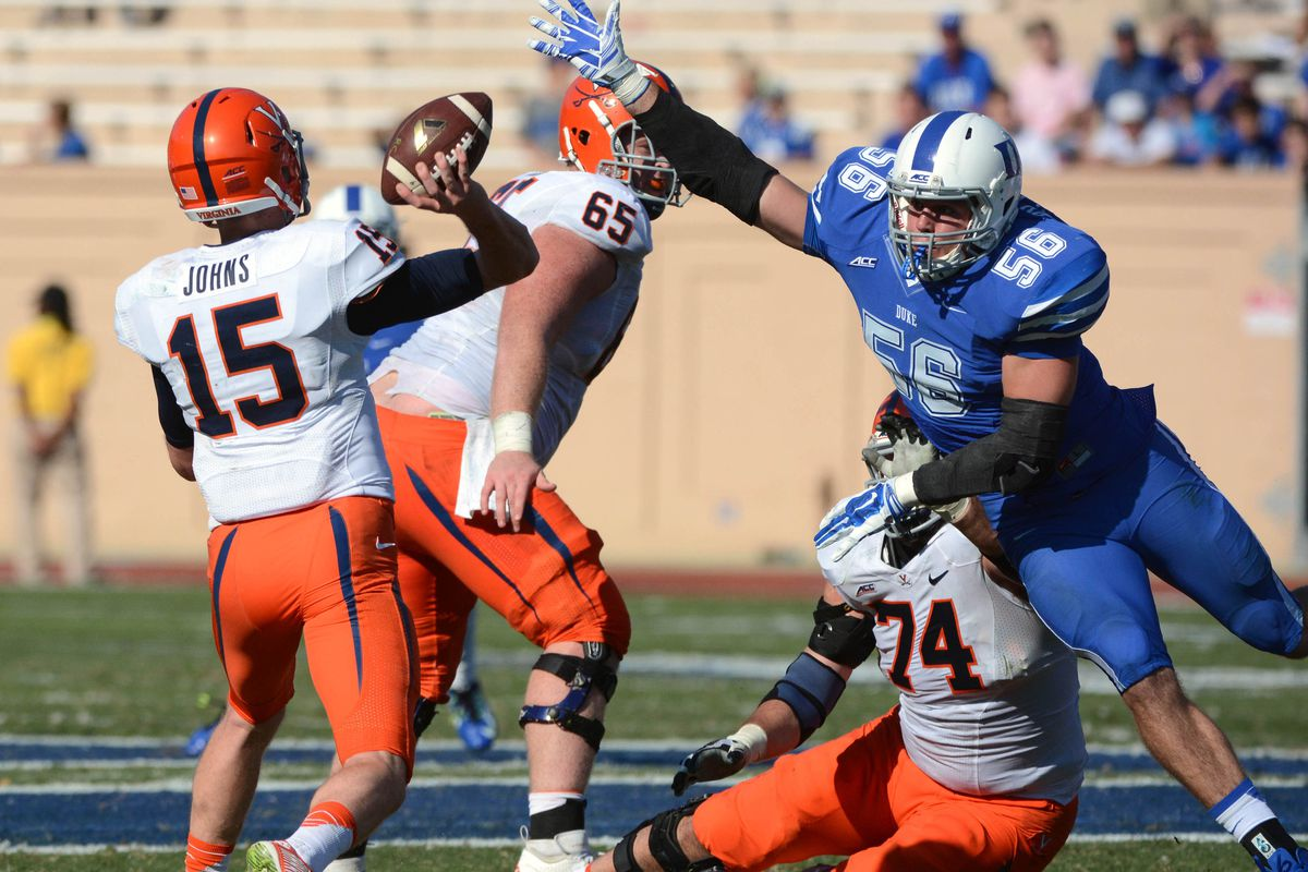 There is no excuse for allowing Matt Johns to throw 45 passes against Duke's poor run defense.