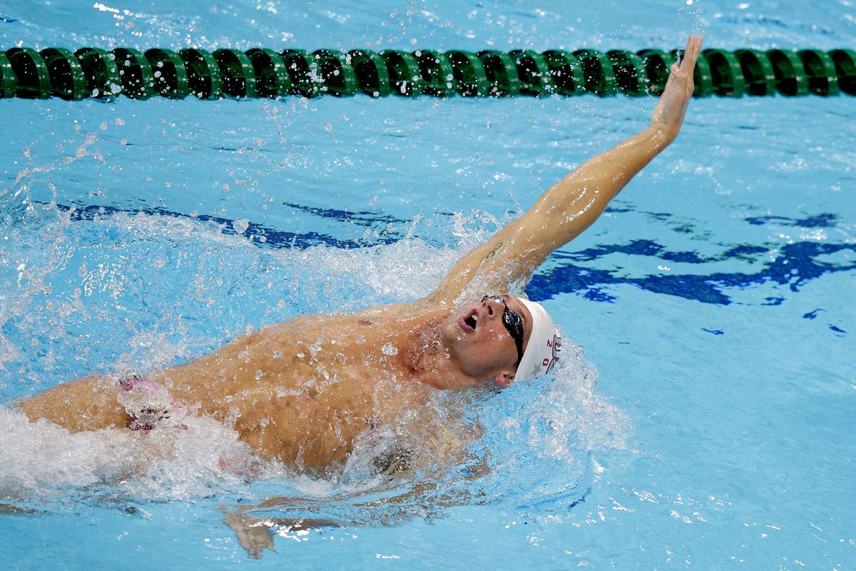Olympic swimming backstroke