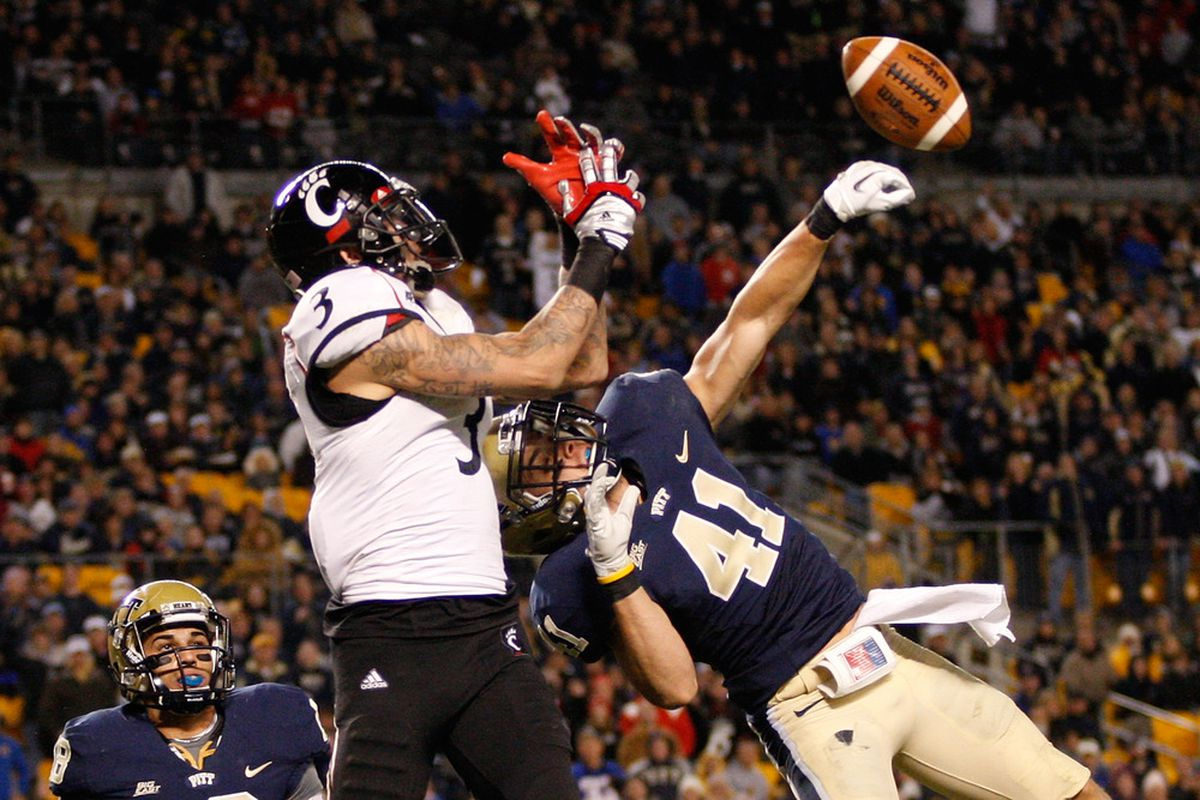 Pitt's conference opener against Cincinnati made the list (Photo by Jared Wickerham/Getty Images)