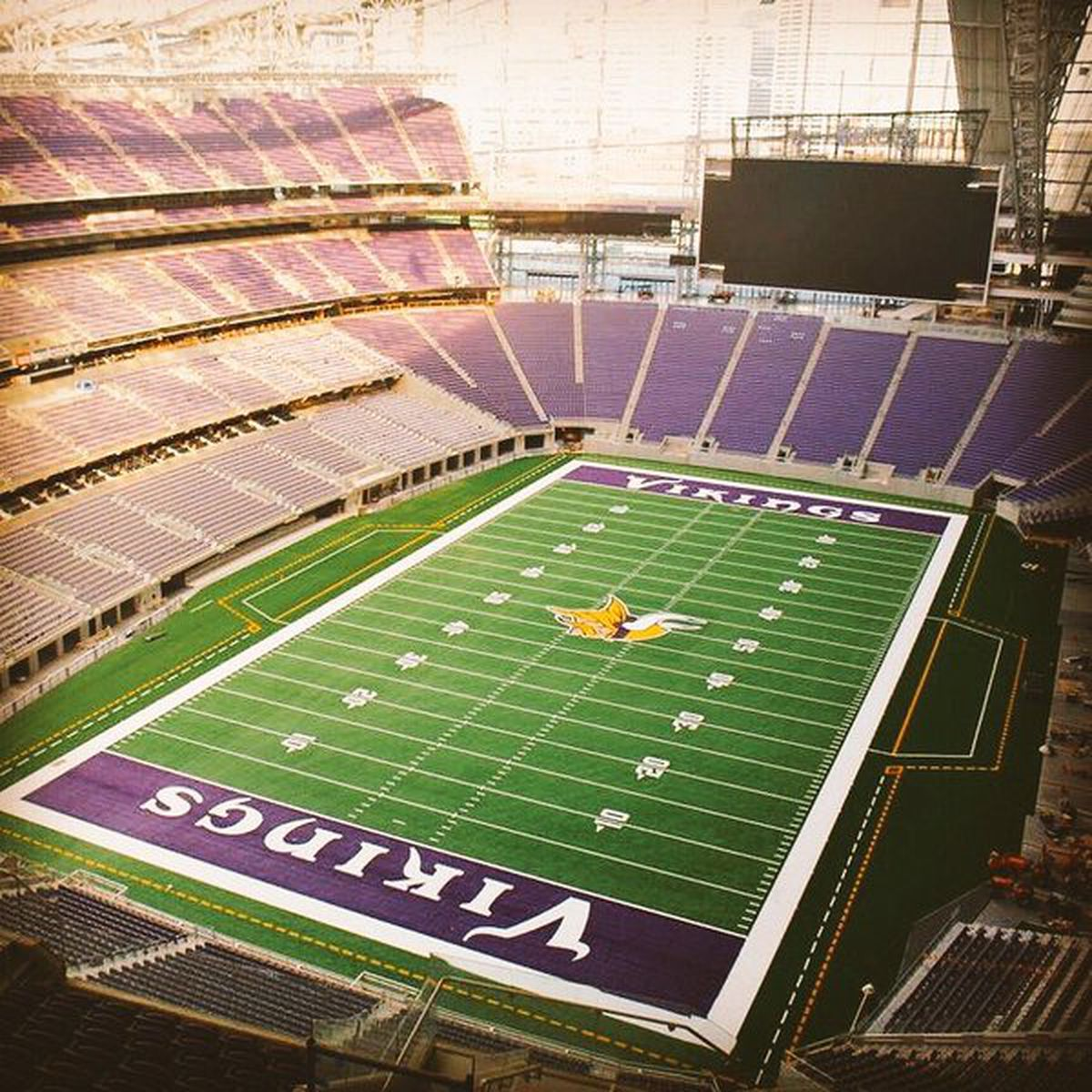 Exterior: A Great Picture Of The U.S. Bank Stadium Turf