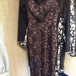 Norma Kamali lace cocktail dress, $525