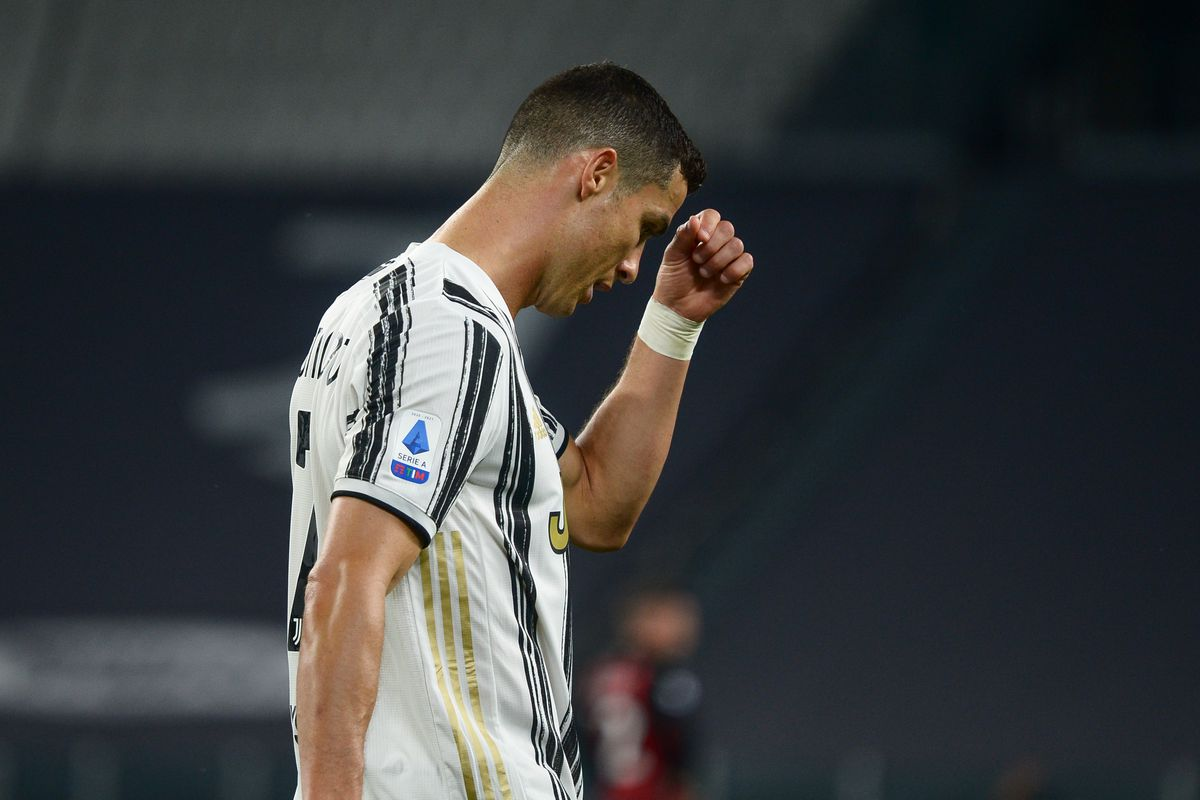 Cristiano Ronaldo of Juventus FC disappointment during the...