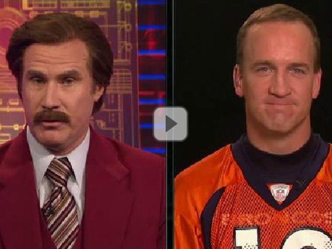 669553f5f Anchorman Ron Burgundy Interviews Peyton Manning - Mile High Report