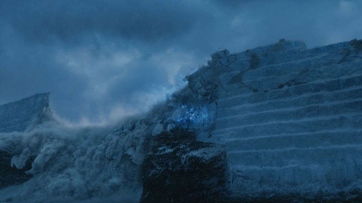 Game of Thrones - the wall being destroyed