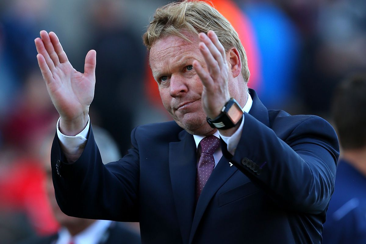 Its Ronald Koeman appreciation day at St Marys.  Look for the showing of orange in the stands