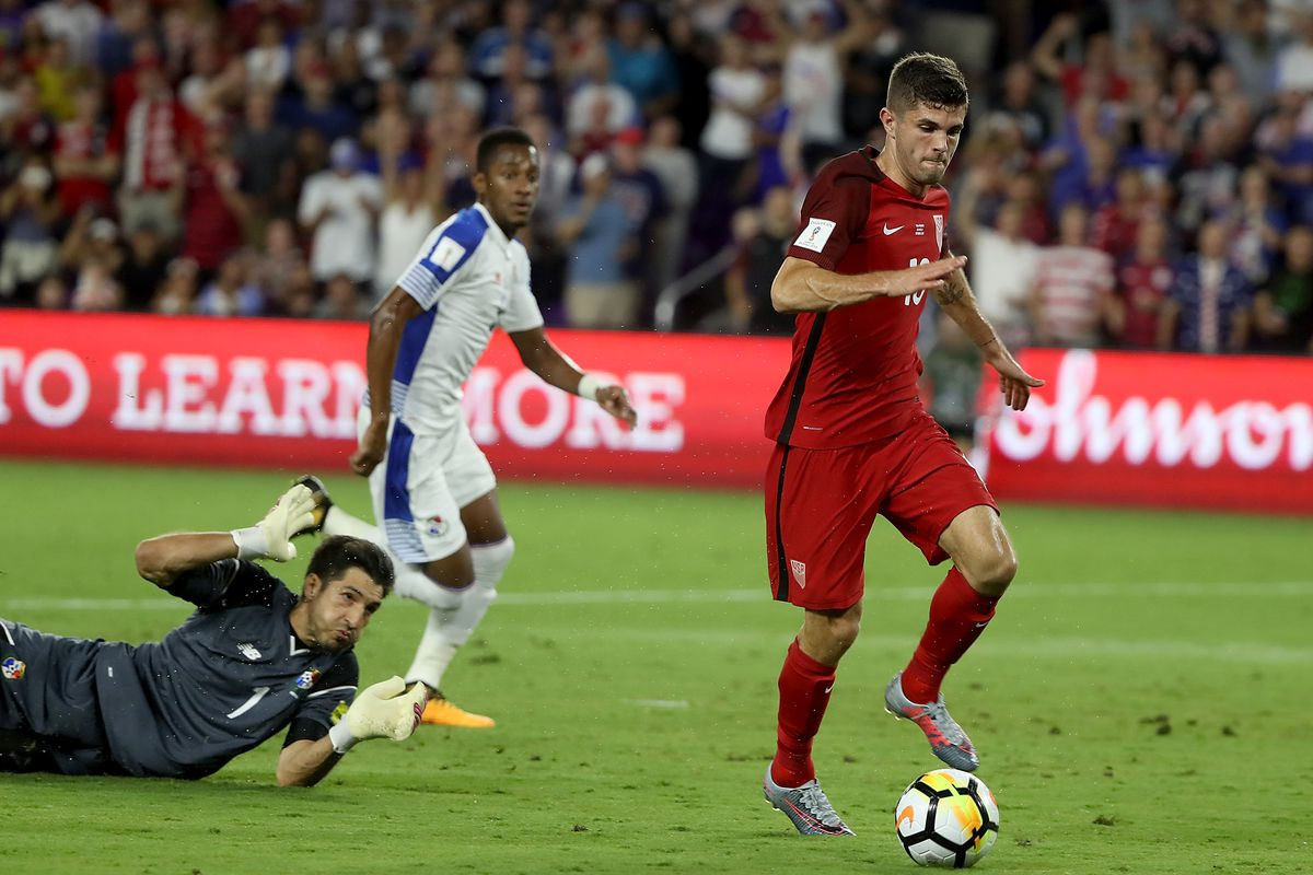 Pulisic Rounds The Keeper For Opening Goal In Orlando Photo By Sam Greenwood Getty Images
