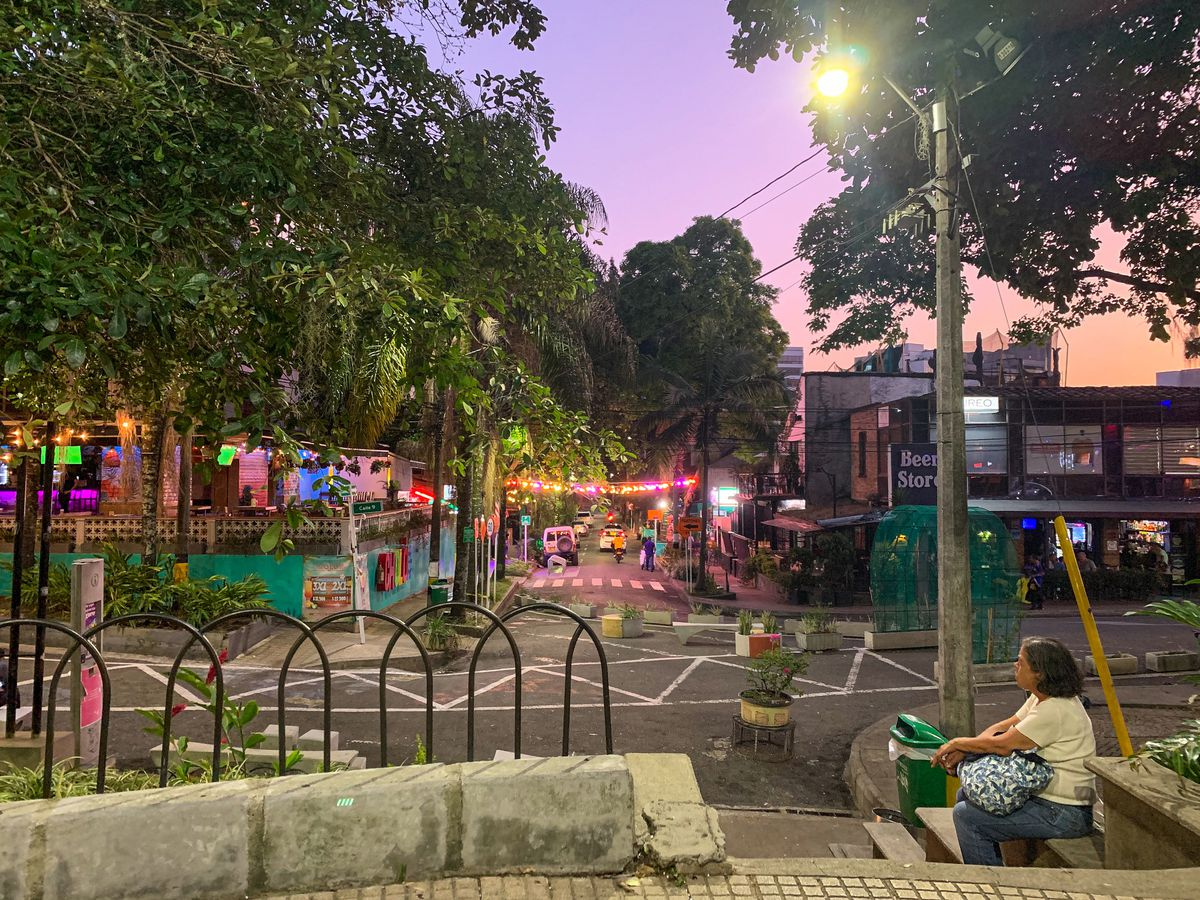 A look at the city streets in Medellín, Colombia