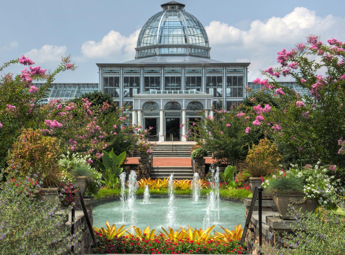 The exterior of the Lewis Ginter Botanical Garden.