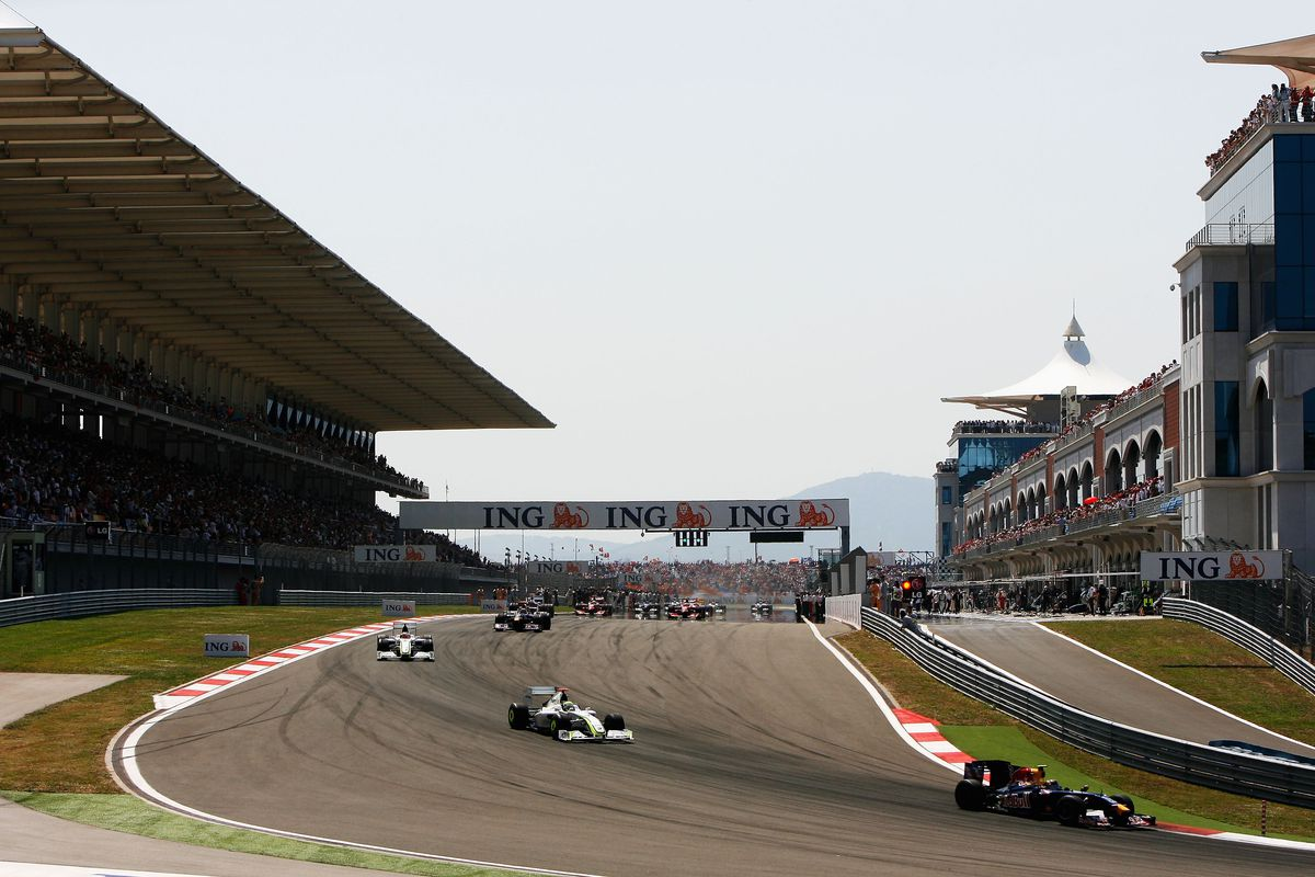 General view of the grandstand straight during the Turkish Formula One Grand Prix at Istanbul Park on June 7, 2009, in Istanbul, Turkey.