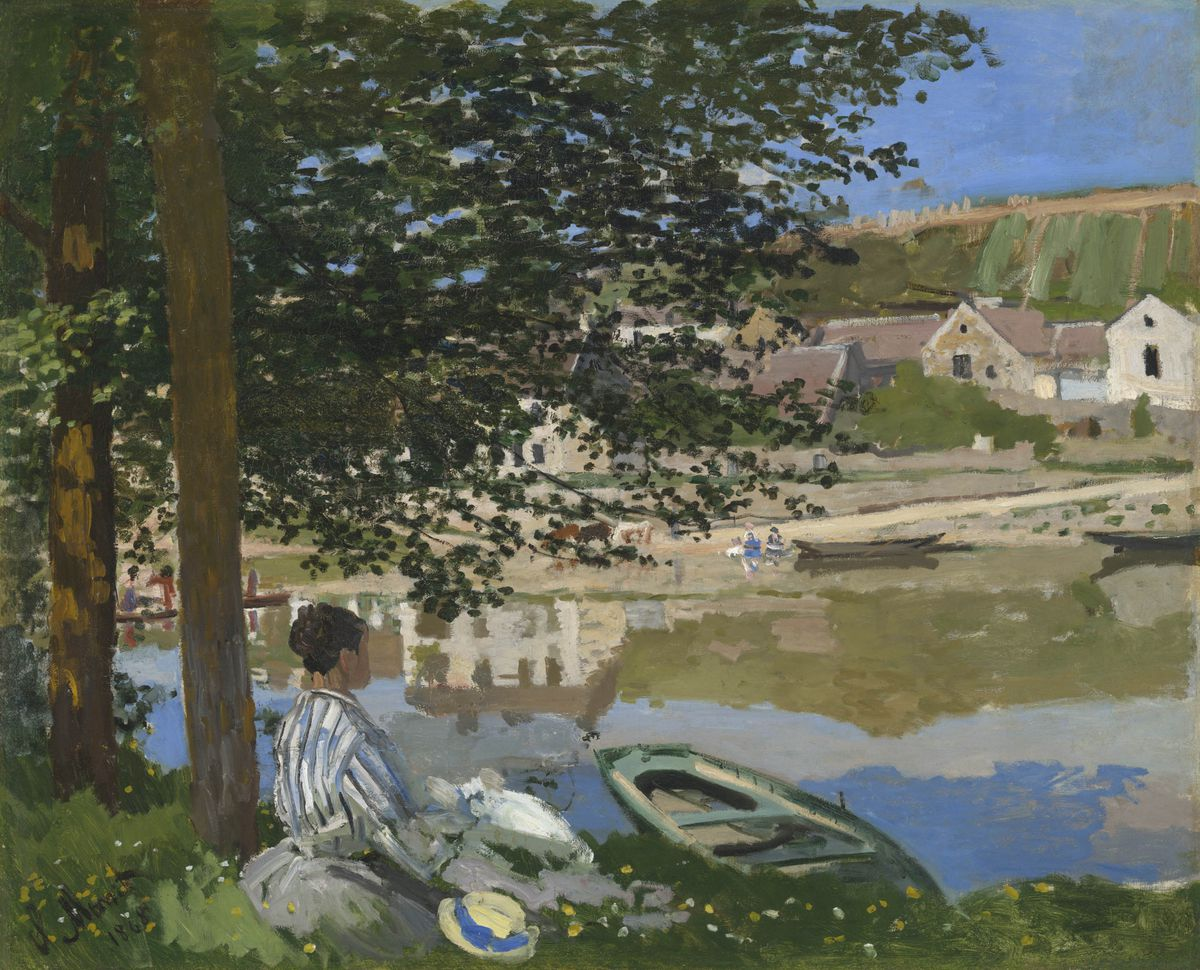 "Claude Monet, ""On the Bank of the Seine, Bennecourt,"" 1868, is among the works in ""Monet and Chicago,"" now opening Sept. 3 at the Art Institute of Chicago."