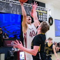 Lino Saez (40) led all players with 20 points on Friday, Dec. 8, 2017.