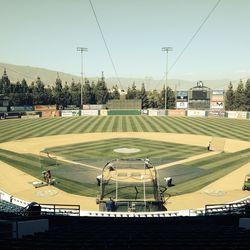 LoanMart Field (Rancho Cucamonga), press box view