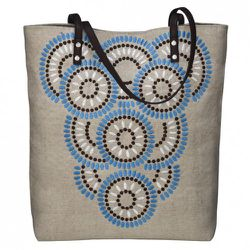 Embroidered Canvas Tote in Khaki $16.99