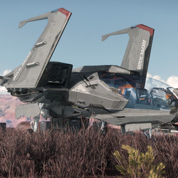 A Mustang landed in-game.