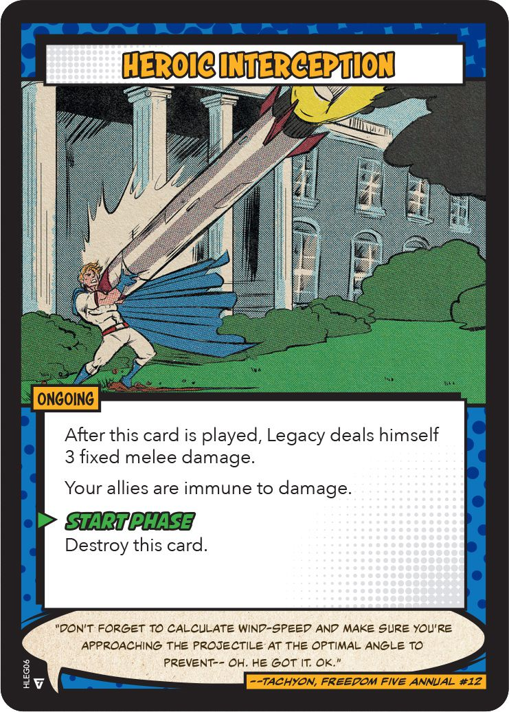 A similar scene, although showing the hero on the White House lawn. There's a crispness to the image that matches the so-called Golden Age of comics from the 1950s and 60s.