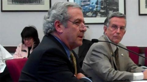 Rabbi Steven Foster (center) sparred Monday with Sen. Dave Schultheis, R-Colorado Springs, over Schultheis' religious rights bill. (Foster's wife, Sen. Joyce Foster, D-Denver, is in the background at the left.)