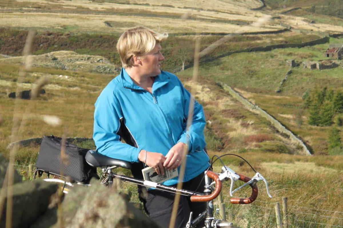 Britain by Bike presenter Clare Balding