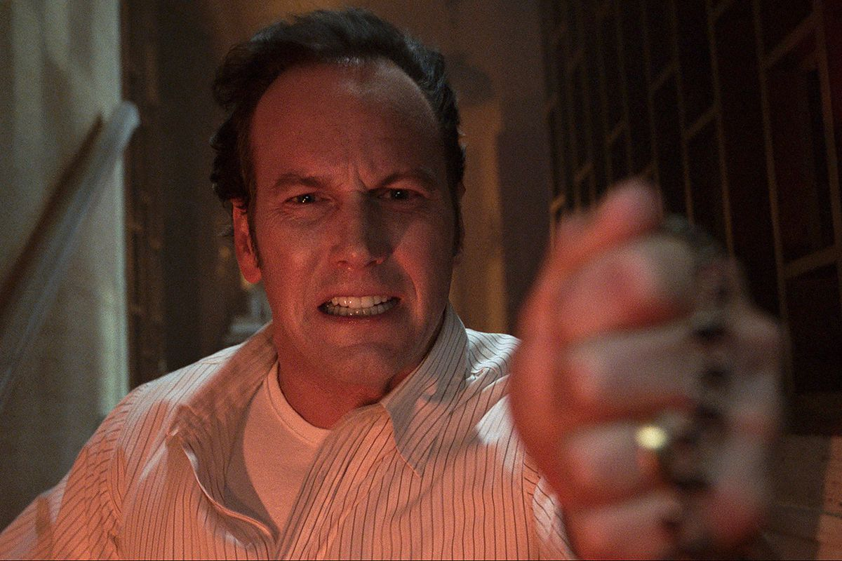 Patrick Wilson grits his teeth and fights the supernatural in The Conjuring: The Devil Made Me Do It