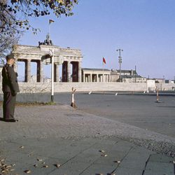 This Aug. 1961 file photo shows the Brandenburg Gate from the West Berlin side of the Berlin Wall. Berlin begins remembrance celebrations of the 50th anniversary of the construction of the Berlin Wall on Tuesday, June 14, 2011.
