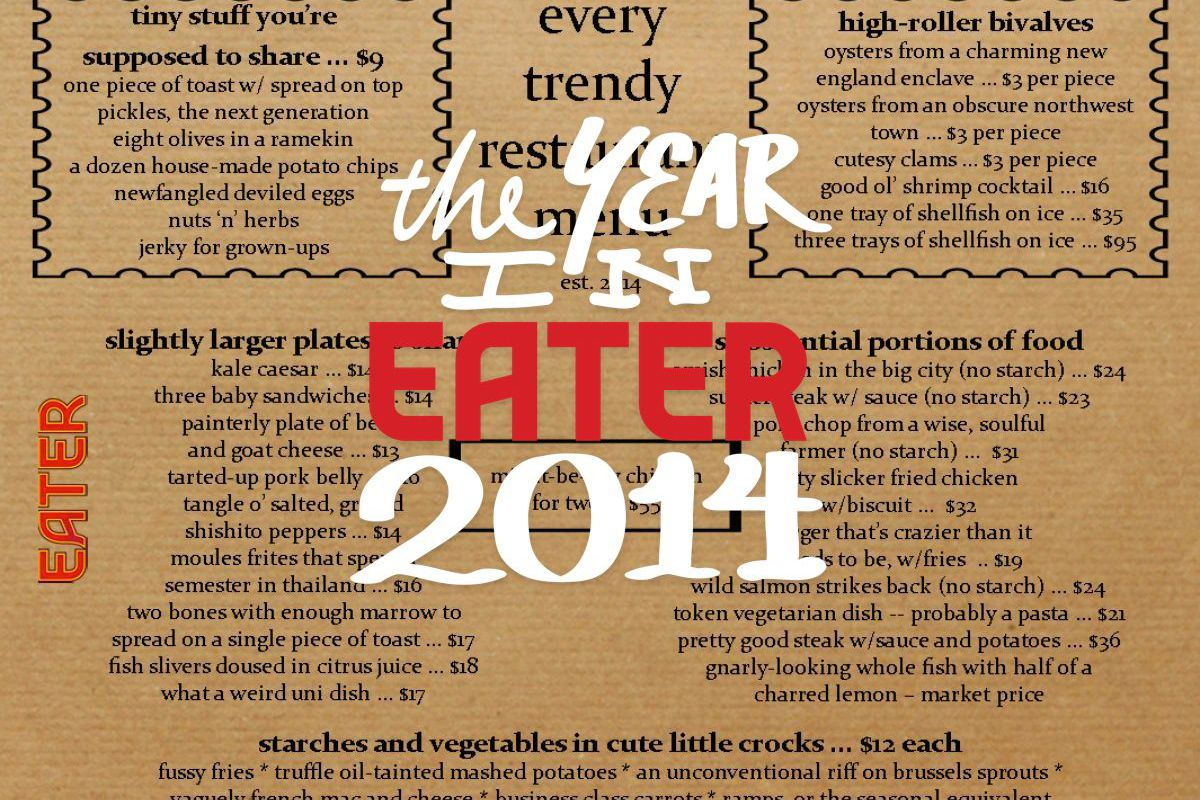 as is the tradition at eater our closeout of the year is a survey of friends industry types and bloggers this year we asked the group eight questions