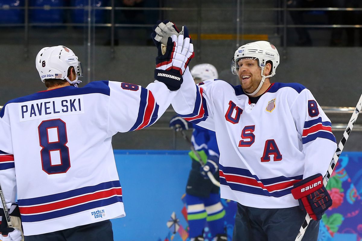 Sharks in Sochi: Pavelski sets up Kessel hat trick, USA second-place ...