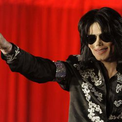FILE - In a March 5, 2009 file photo US singer Michael Jackson announces that he is set to play ten live concerts at the London O2 Arena in July, which he announced at a press conference at the London O2 Arena. A trial scheduled to begin Tuesday, Sept. 6, 2012 will determine how much a businessman working with Katherine Jackson will have to pay her son's estate for infringing some of its copyrights.