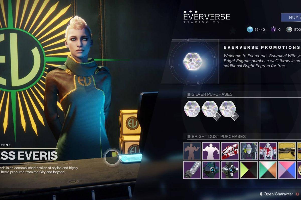 Destiny 2 - Tess Everis / Eververse Trading Company inventory
