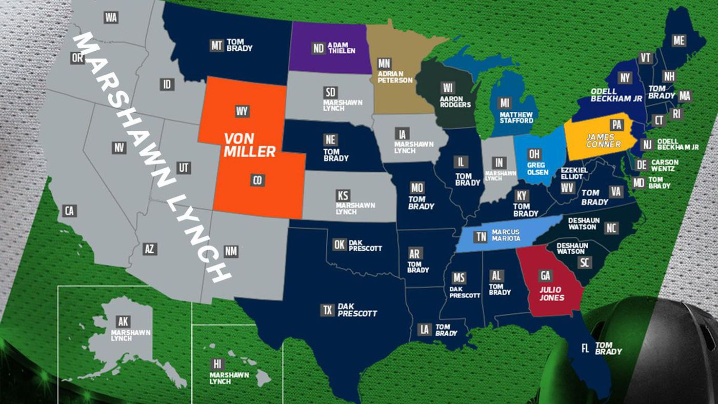 Marshawn Lynch is dominating the entire western U.S. in jersey ...