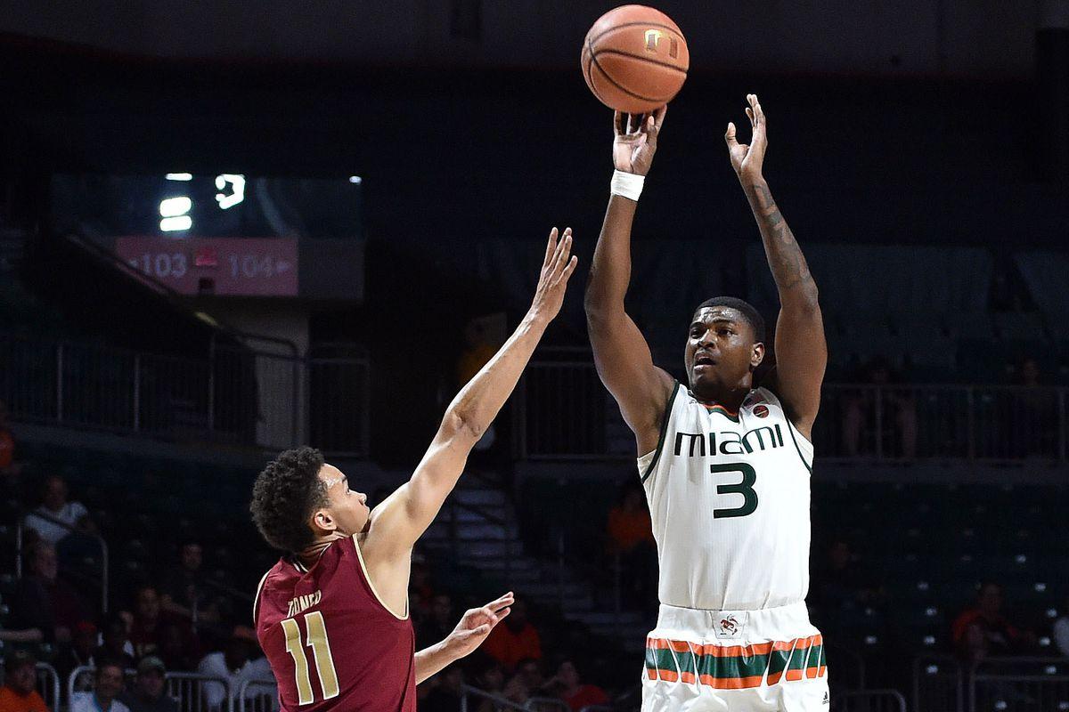 NCAA Basketball: Boston College at Miami