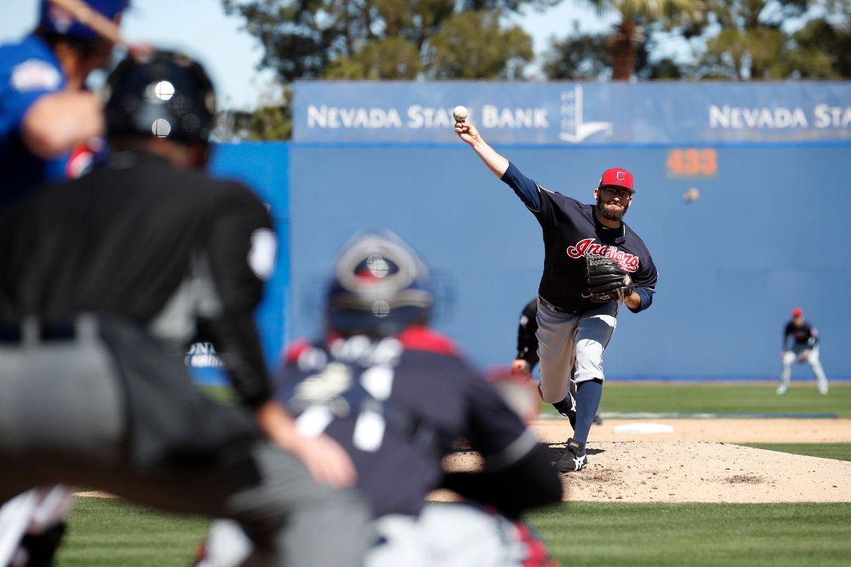 MLB: MAR 18 Spring Training - Indians at Cubs