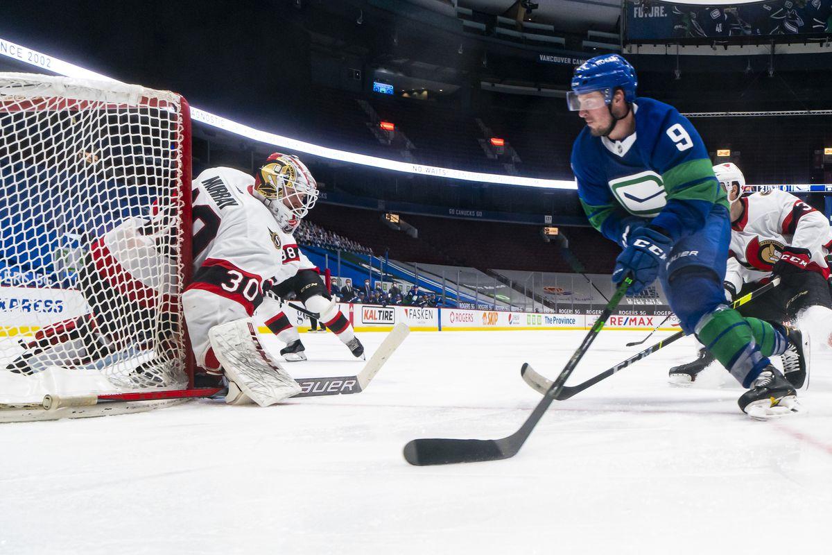 Ottawa Senators v Vancouver Canucks
