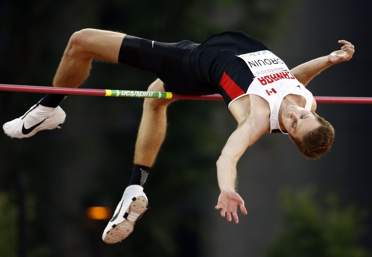 Drouin competing at the 2015 Pan Am Games.   Erich Schlegel-USA TODAY Sports