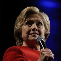 Democratic presidential candidate Hillary Clinton speaks to supporters after the first presidential debate with Republican presidential candidate Donald Trump, in Westbury, N.Y., Monday, Sept. 26, 2016.