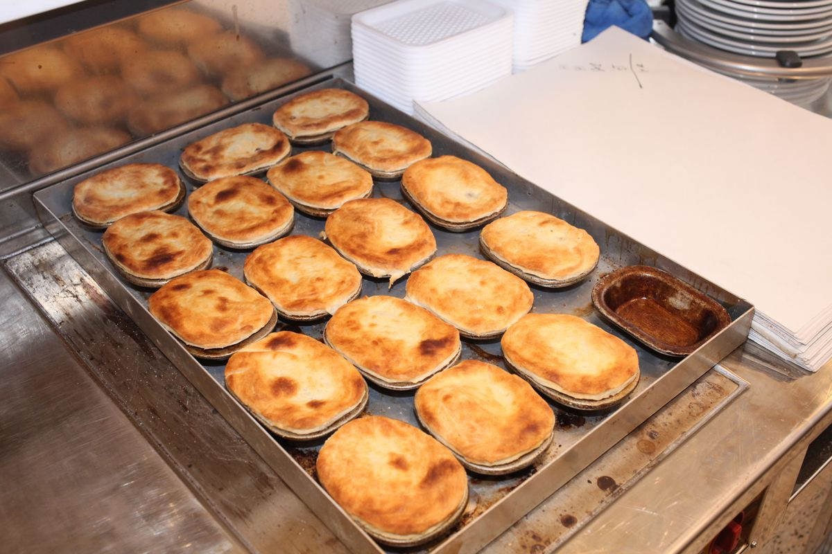 pies at G. Kelly on Roman Road in east London