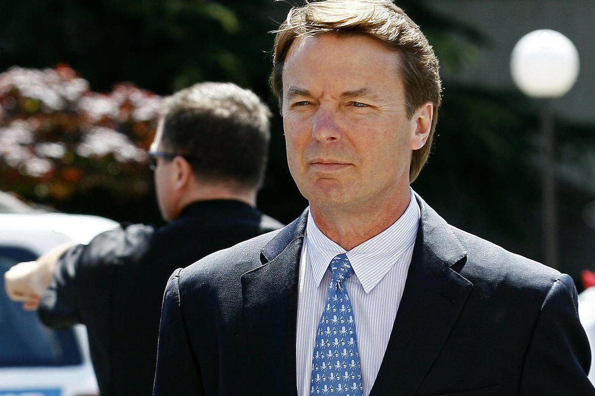 FILE - In this April 12, 2012, file photo, former presidential candidate and U.S. Sen. John Edwards arrives outside federal court following a lunch break in Greensboro, N.C., during jury selection in his criminal trial on alleged campaign finance violatio