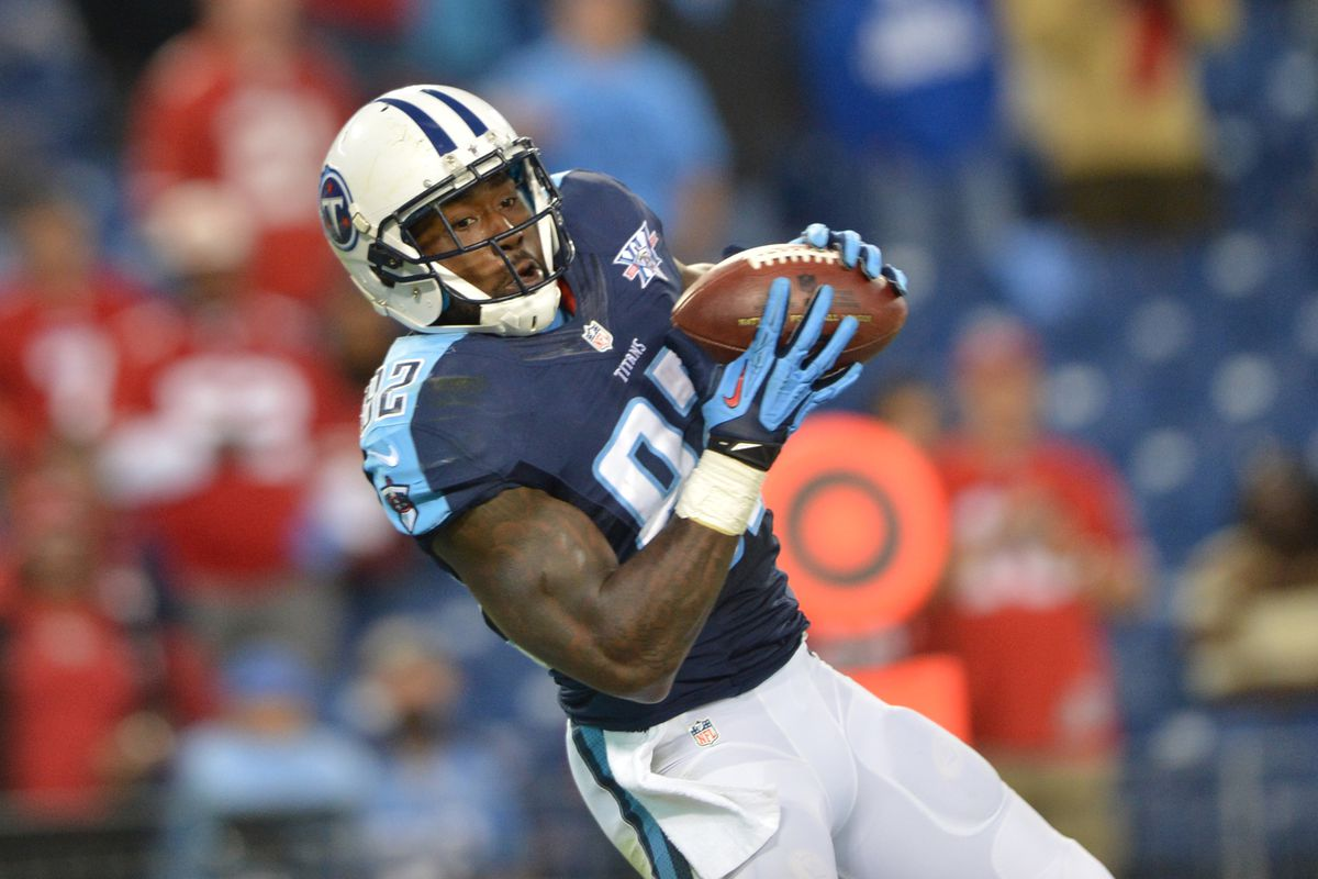 Tennessee Titans tight end Delanie Walker is tied at #6 in the league among tight ends in number of touchdown receptions